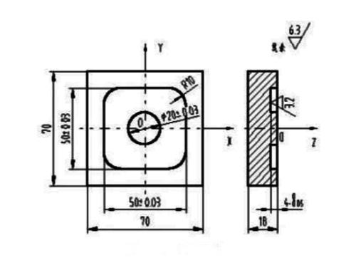 数控铣床编程实例(一)
